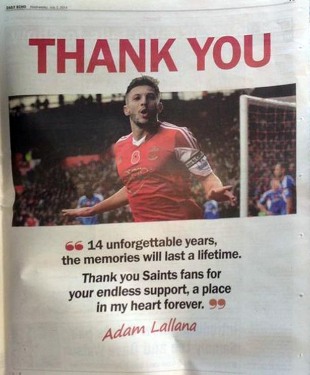 Lallana advert
