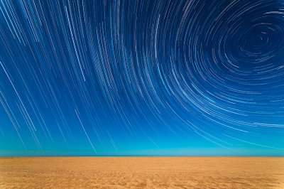 Star Trails on the Beach