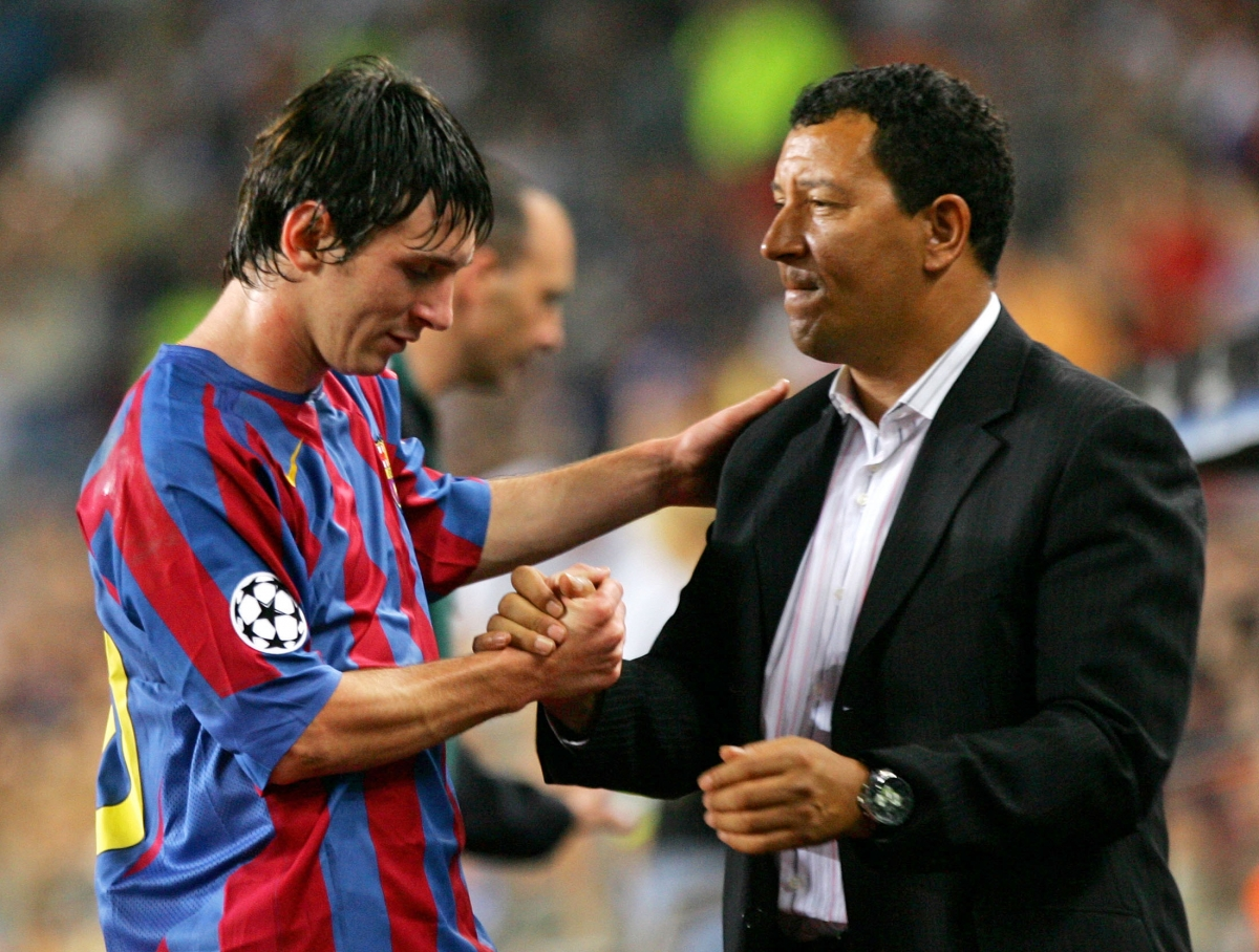 Henk ten Cate and Lionel Messi