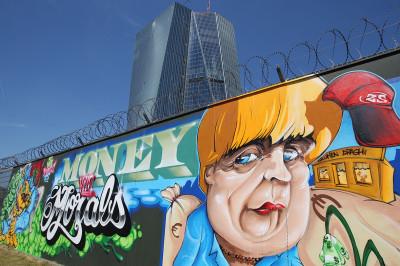 merkel graffiti