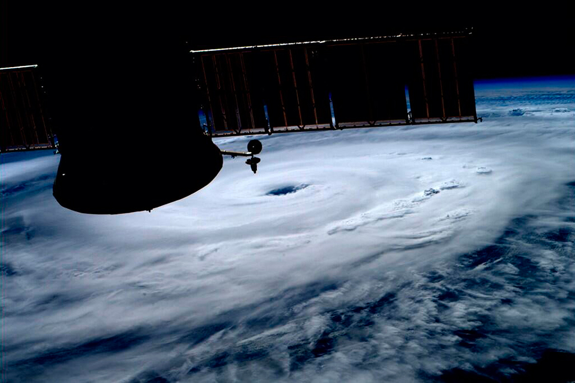 hurricane arthur space