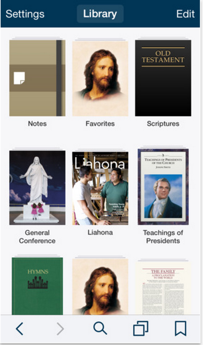 The Gospel Library Book of Mormon App