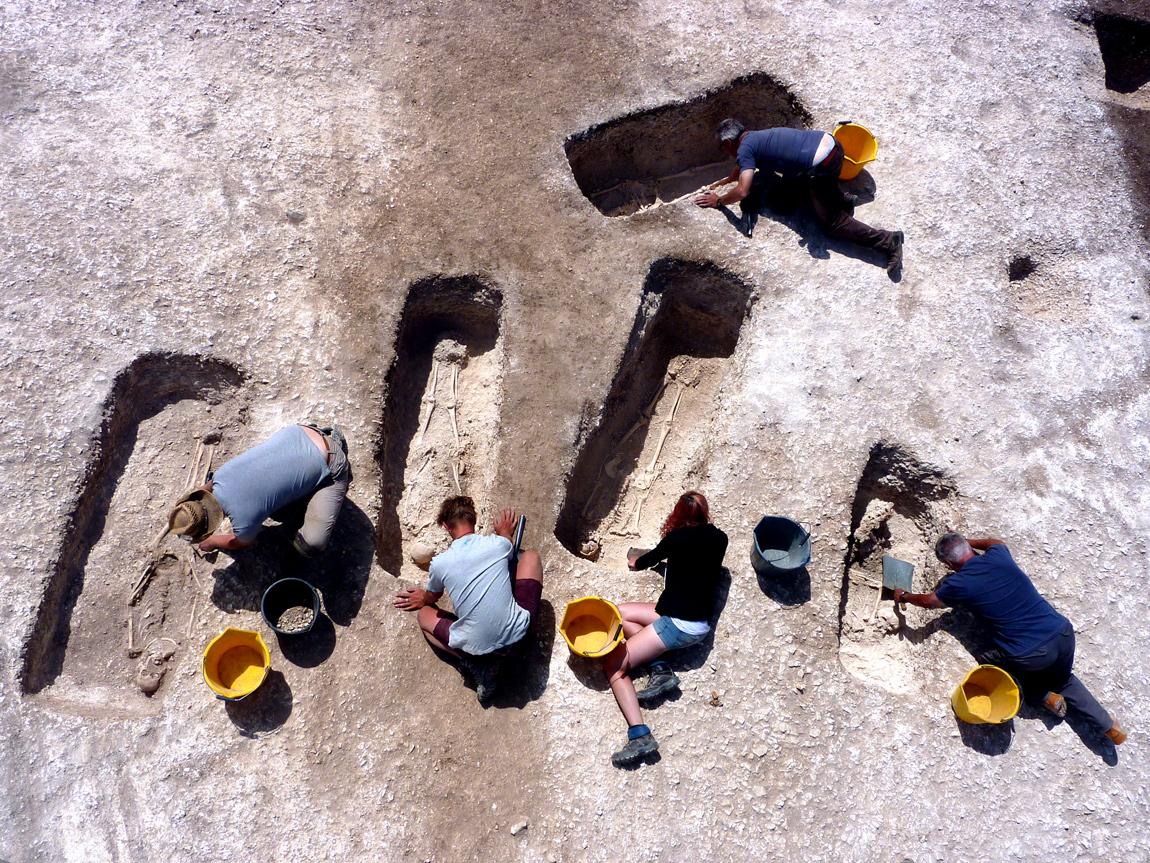 Skeletons of Roman family found in Dorset 1