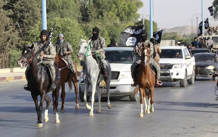 Islamic State militants in Syria