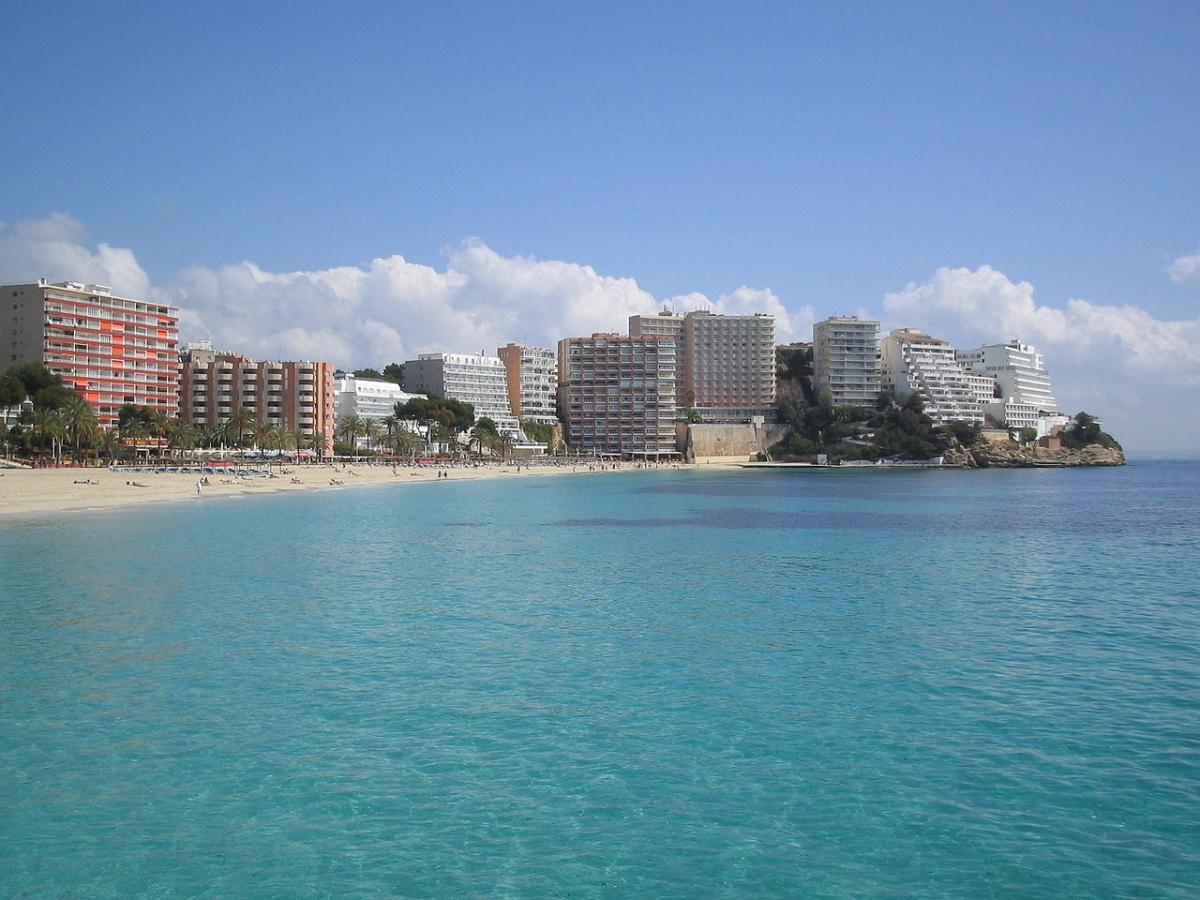 The seaside resort of Magaluf in Spain