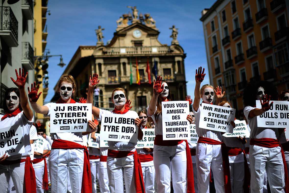 pamplona protest