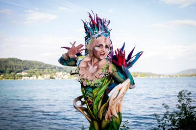 bodypainting festival lake