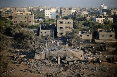 gaza building flattened