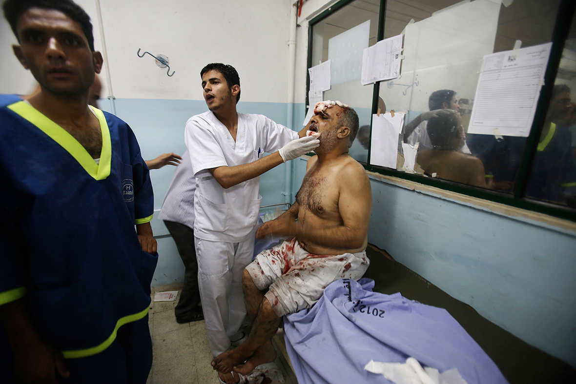 gaza injured man