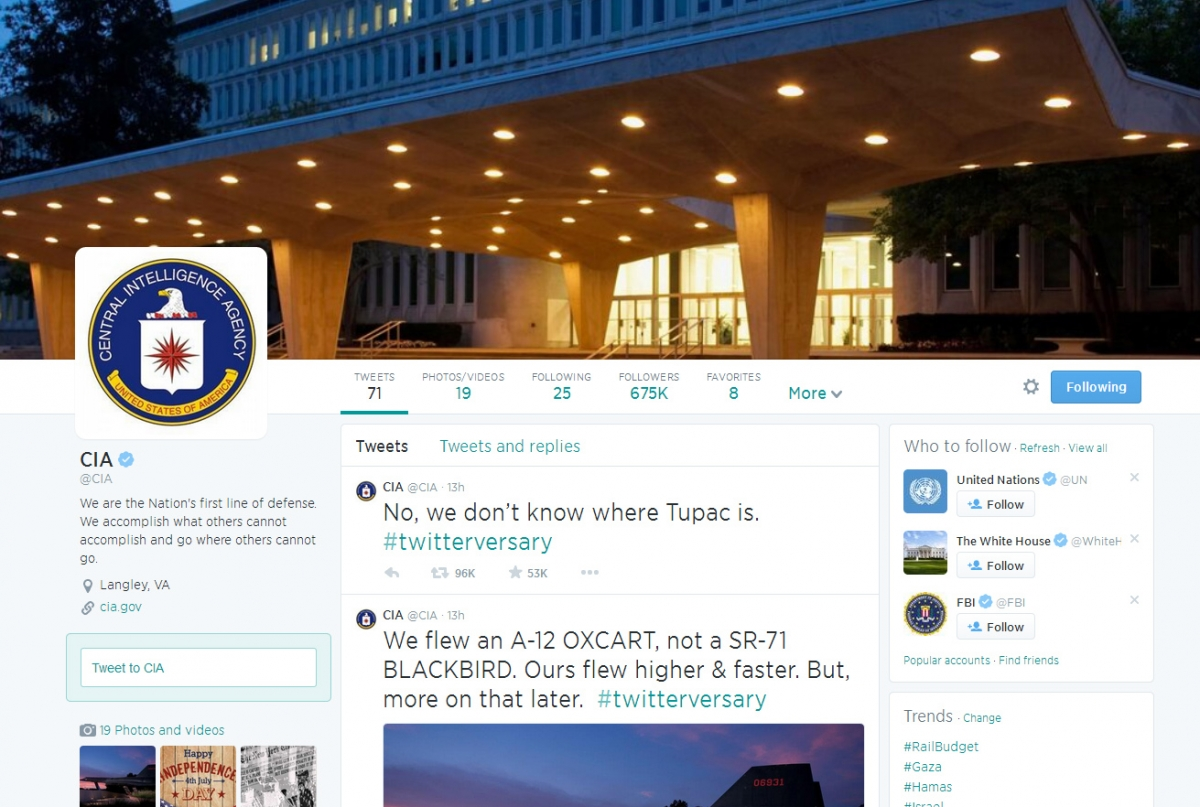 The CIA is now on Twitter