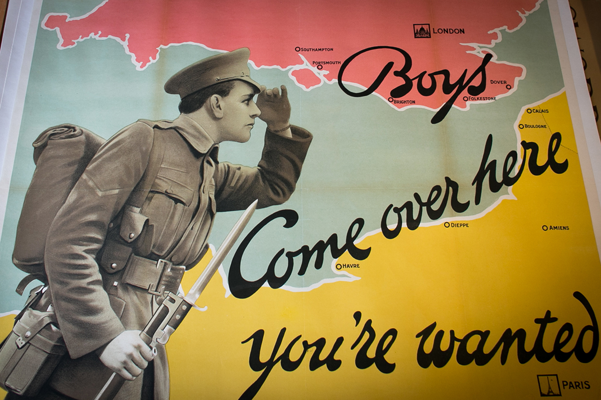 World War One recruitment posters