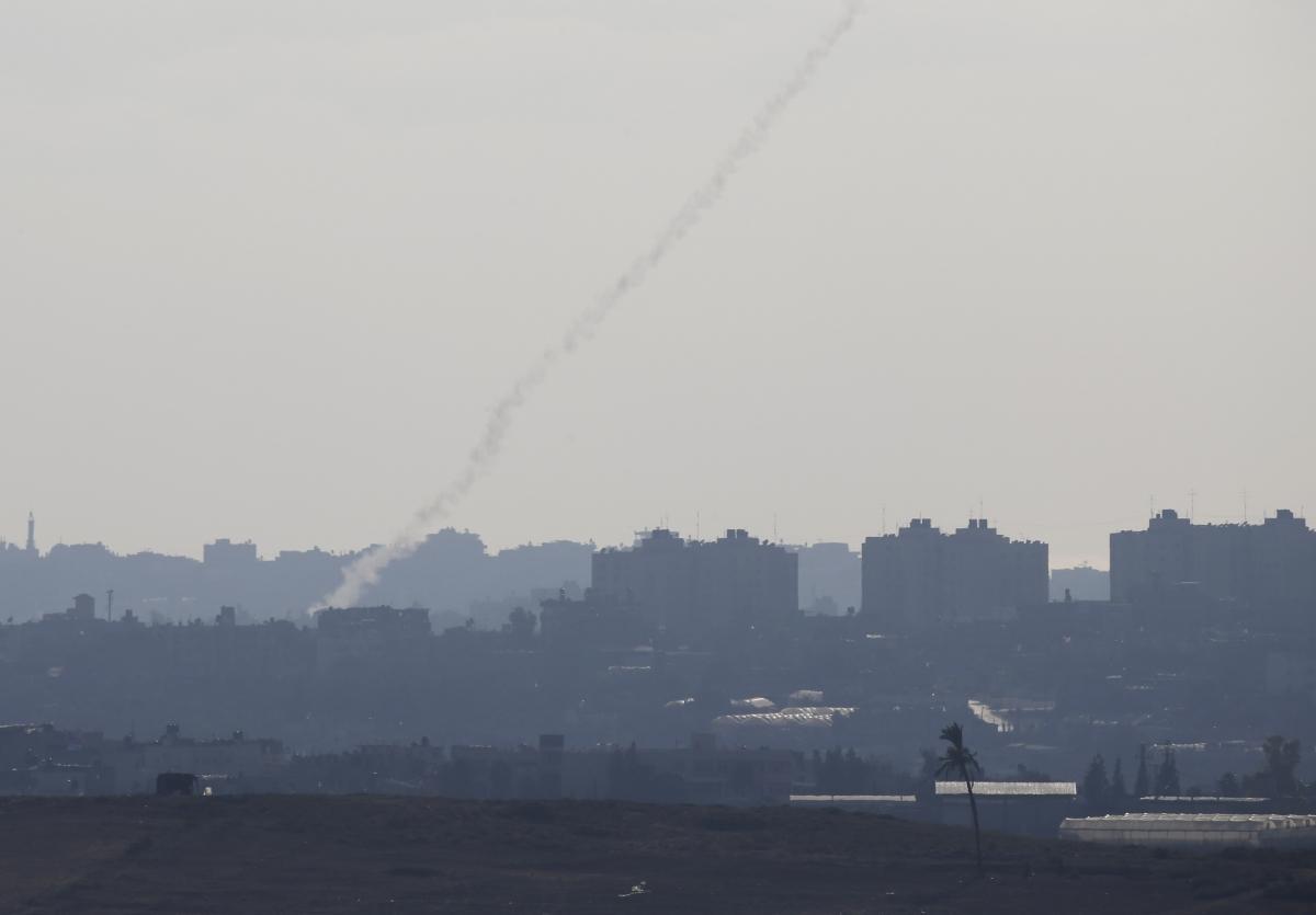 rocket Gaza israel