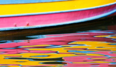 boat reflected