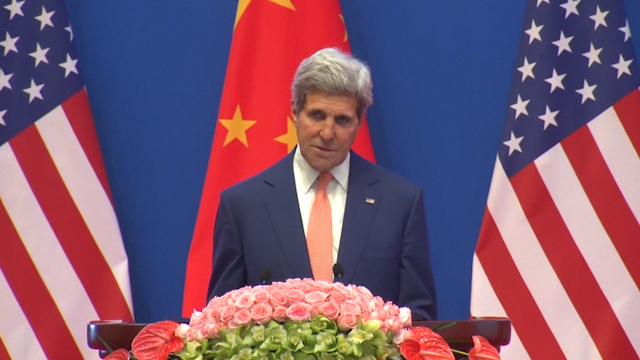 Kerry says U.S. not seeking to contain China