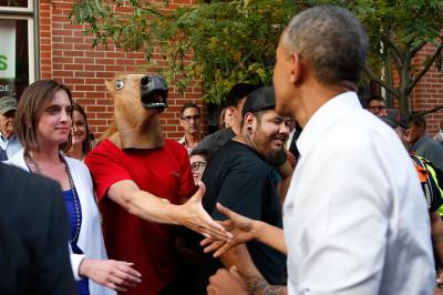 obama horse mask