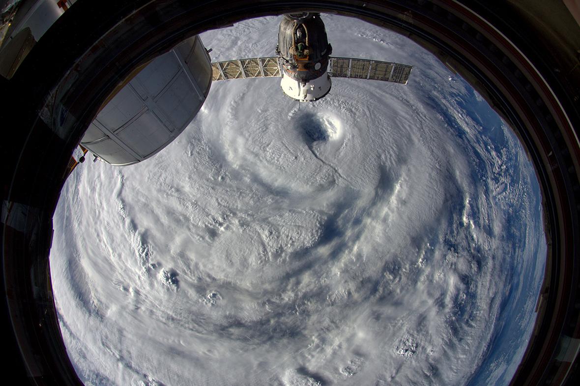 super typhoon neoguri from space