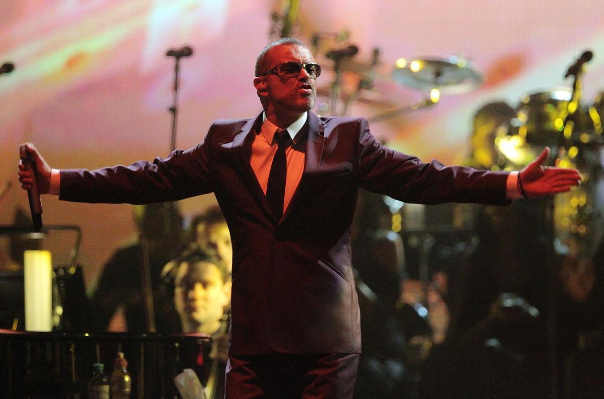 British singer George Michael performs on stage