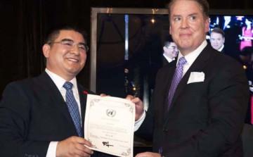 Patrick Donohue Chen Guangbiao Philanthropy award UN