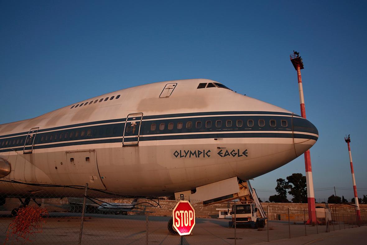 abandoned plane athens