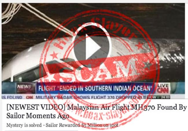 MH370 scam