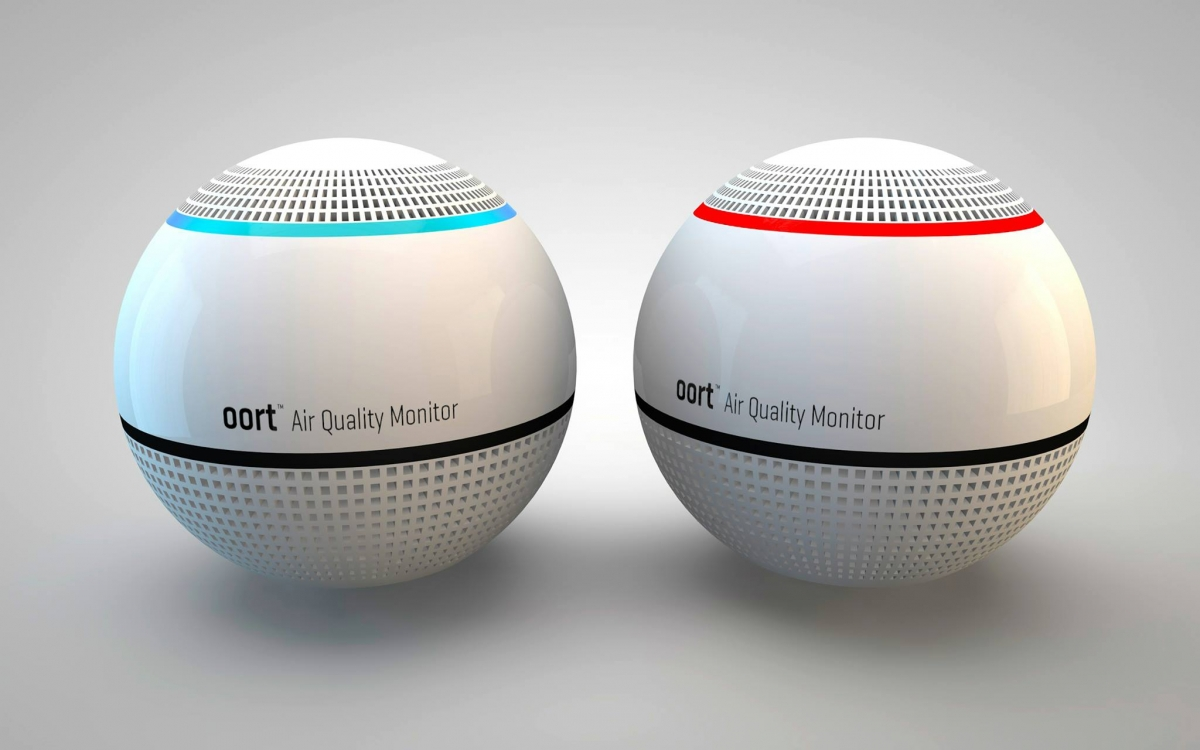 The Oort Air Quality Monitor, which can detect 6,000 organic compounds using a beacon embedded with sensors