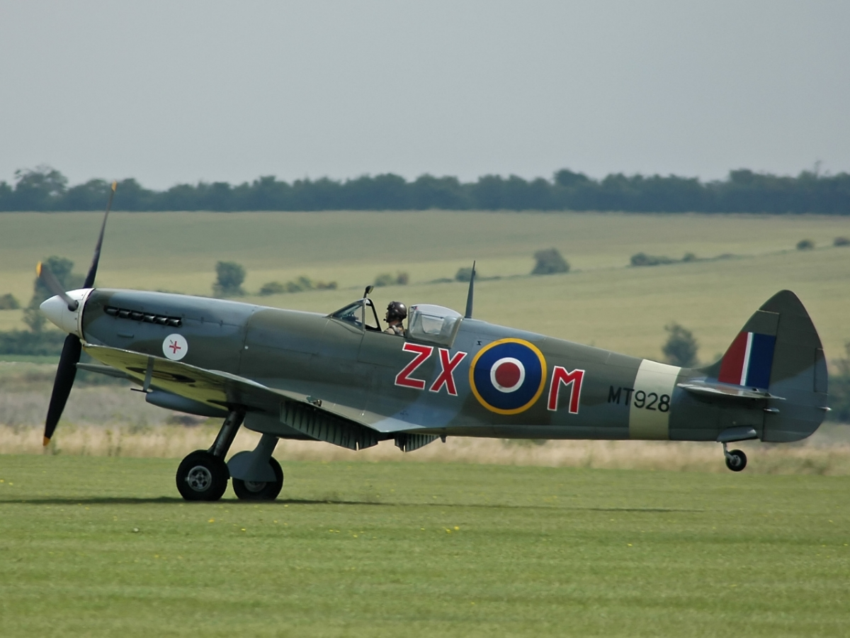 A Supermarine Spitfire Mk. 8 fighter plane - Spitfires helped to win the Battle of Britain
