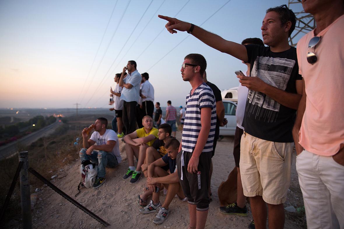 israelis watch attacks