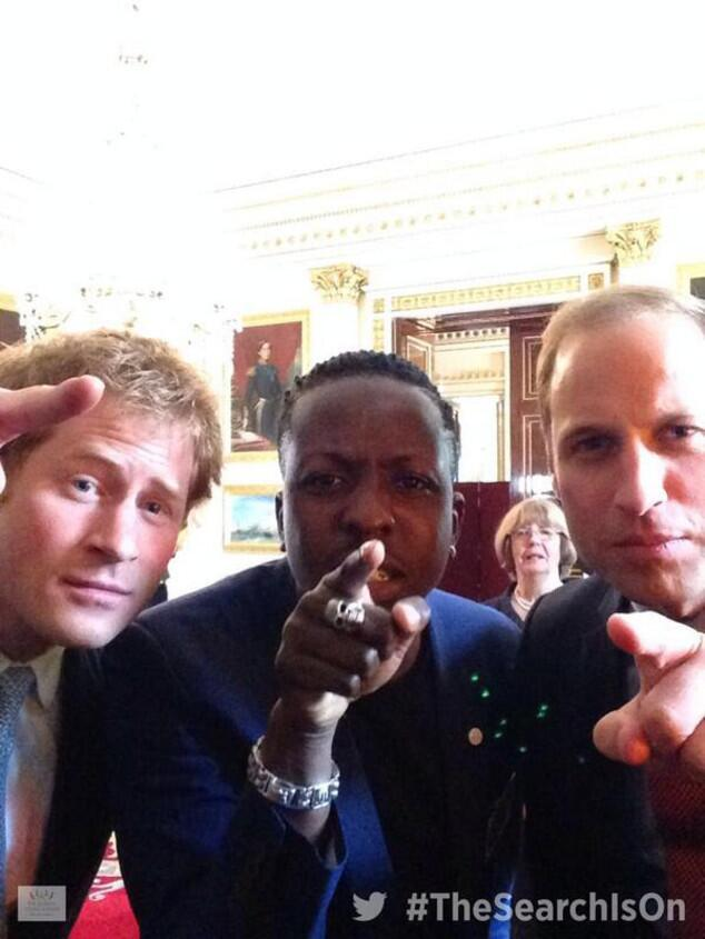 prince william prince harry selfie