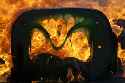 south africa burning bin