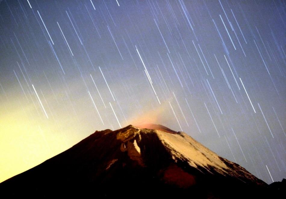 A meteor streaking