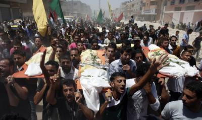 gaza airstrikes funeral