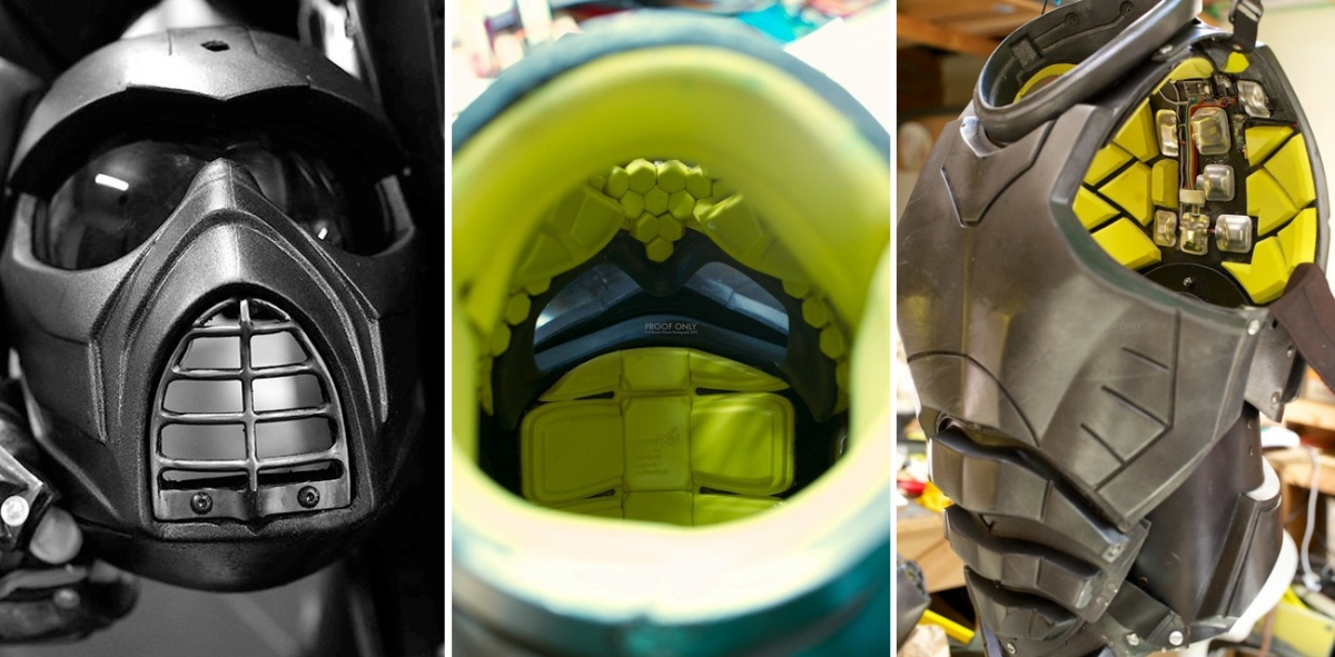 Inside the Lorica smart armour are 40 sensors to track force and damage trauma
