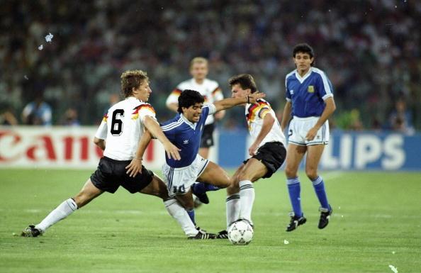 Diego Maradona and Lothar Matthaus