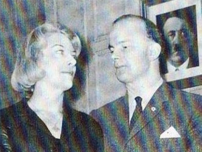 Colin Jordan (right) and wife Françoise Dior