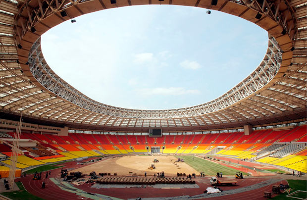 Construction Underway at Moscow Stadium to Host 2018 World Cup Final