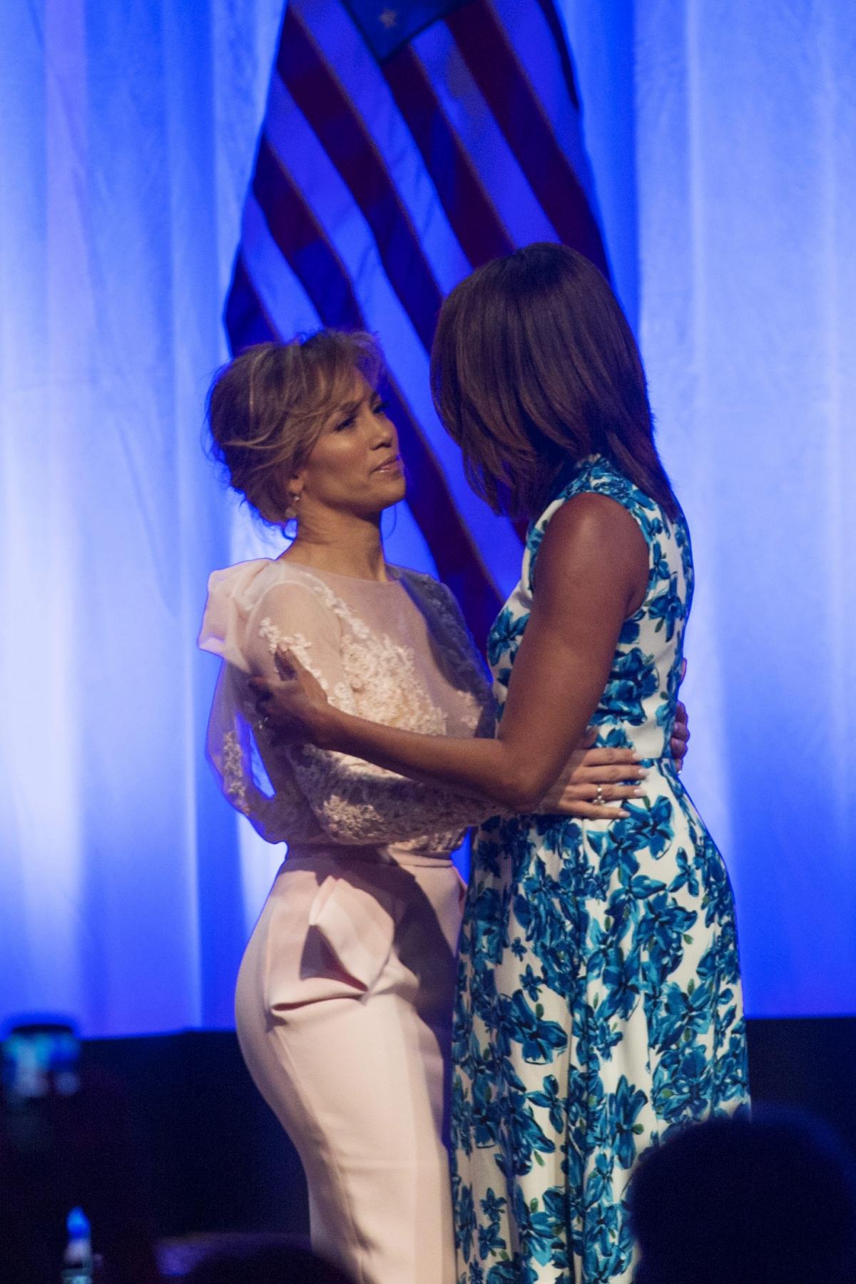 Jennifer Lopez and Michelle Obama