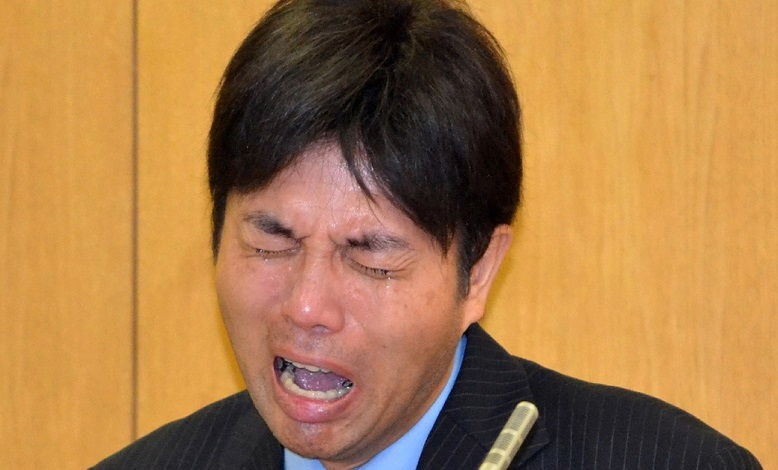 Hysterical Ryutaro Nonomura wept profusely on camera, but it did not save his career