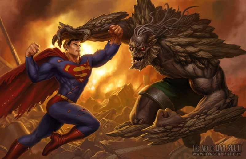 Superman vs Doomsday fan art