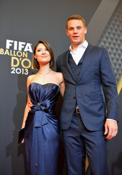 Manuel Neuer of Germany and Kathrin Gilch