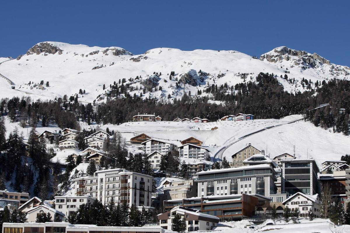 St Moritz in winter (Getty)