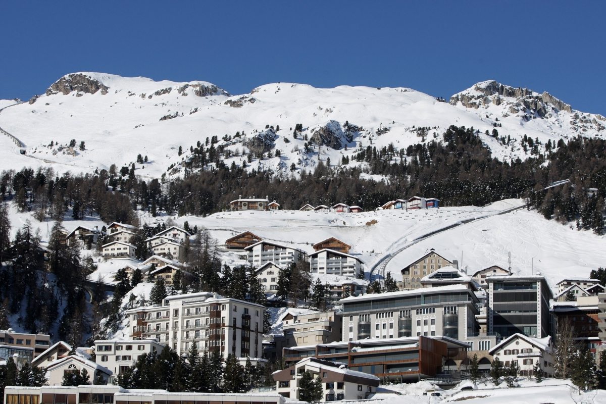 St Moritz in winter (Getty)