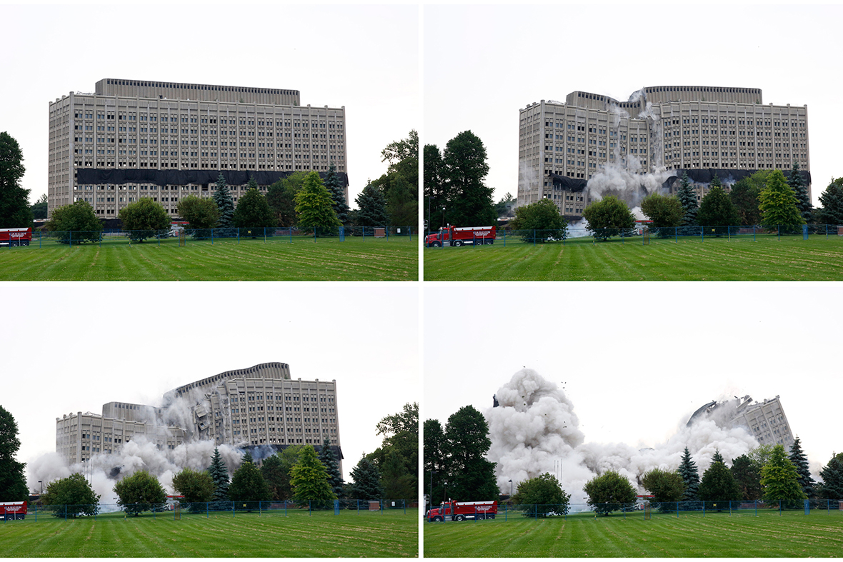 building imploded