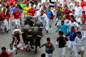 pamplona running the bulls