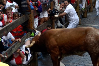 pamplona running the bulls