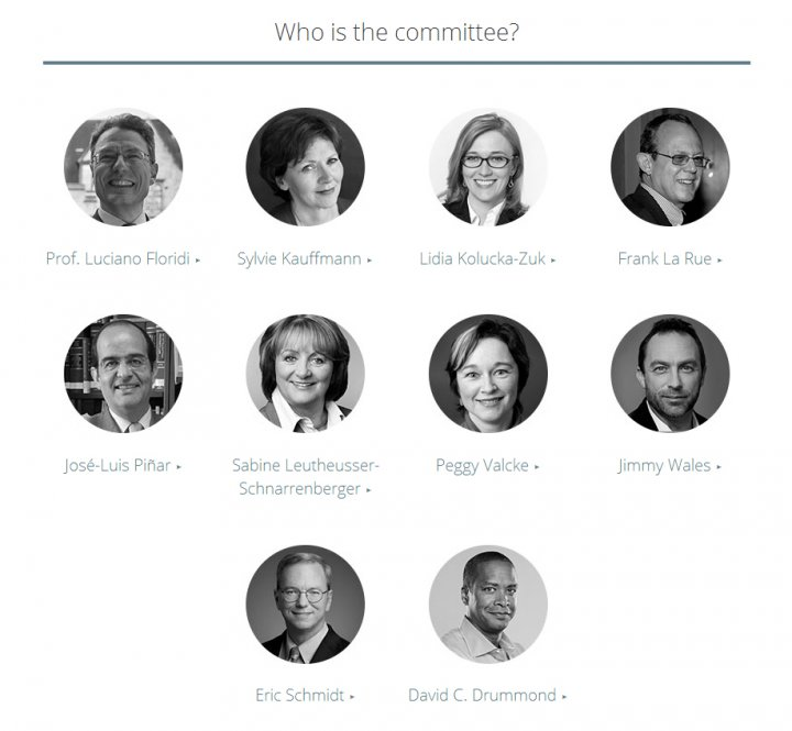 Google's new advisory committee is seeking input from European citizens about what content should be removed from search engines