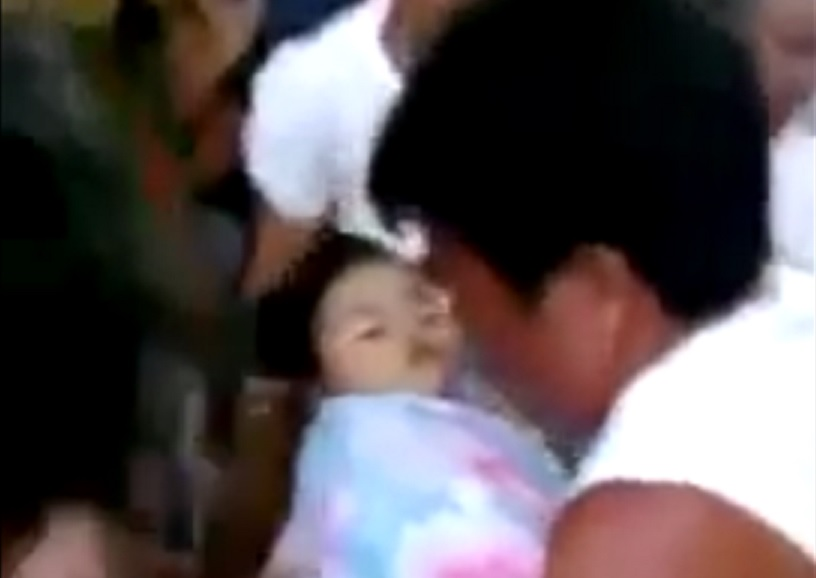 Baby provided a shock to mourners by waking up at her own funeral in the Philipinnes