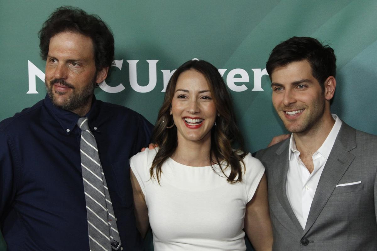 Actors Silas Weir Mitchell (L), Bree Turner, and David Guintoli, stars of NBC series Grimm