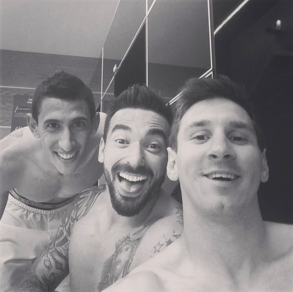 Lionel Messi Celebrates After Switzerland World Cup