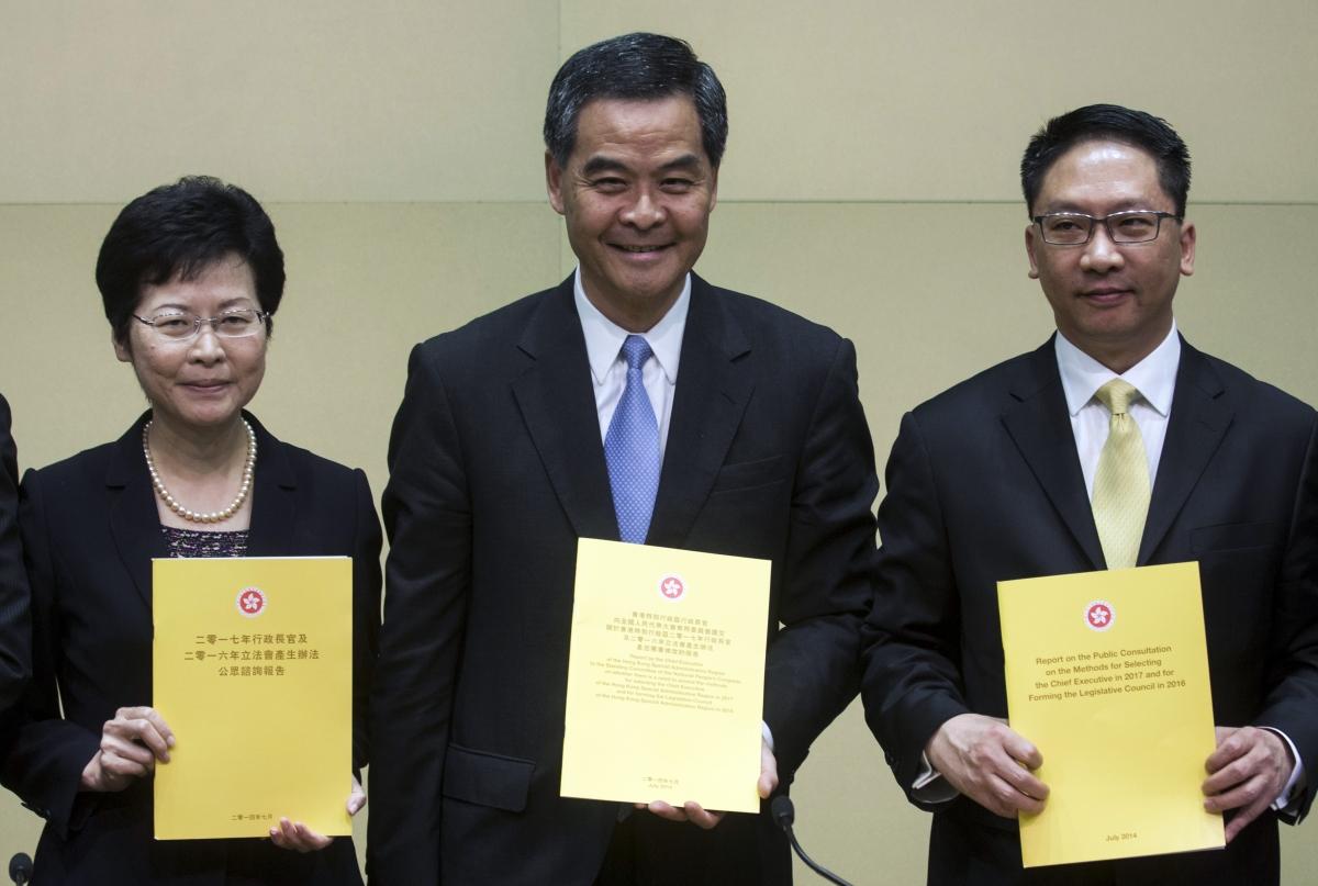 Hong Kong's Chief Secretary Carrie Lam HONG KONG democracy