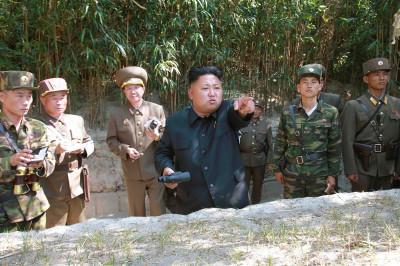 kim jong un pointing